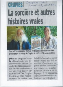 article Dauphine Libéré 19-07-2014