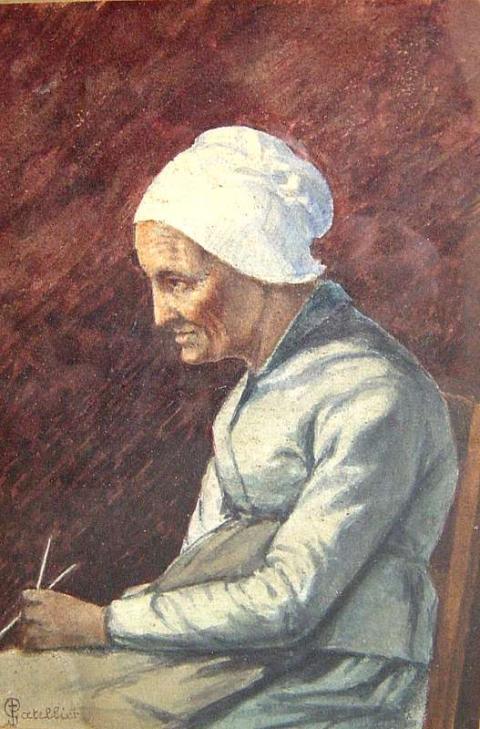 Beschrijving: vieille femme cousante Rouillac.jpg
